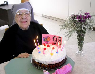 Birthday Cake For Little Sister ~ Happy birthday sister marie mathilde! little sisters of the poor